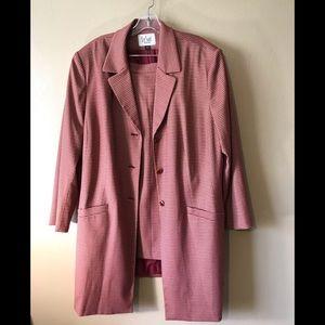 Le Suit long coat skirt suit 22W, polyester, rayon